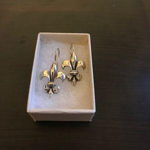 Mignon Faget Fleur de Lis Earrings
